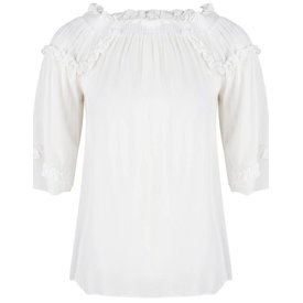 Jacky Luxury Off Shoulder Top White