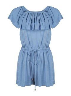 Jacky Luxury Jumpsuit Short Off Shoulder Blue