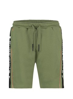 Purewhite Short Army Green Side Logo
