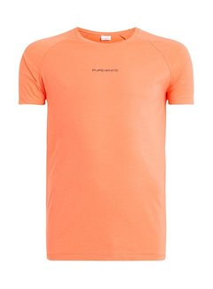 Purewhite Shirt Coral With Logo