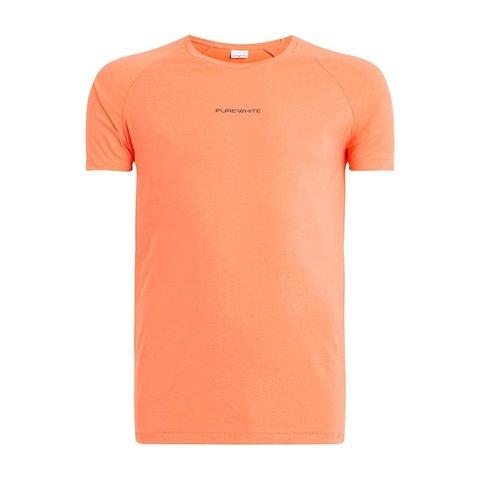 Shirt Coral Whit Logo