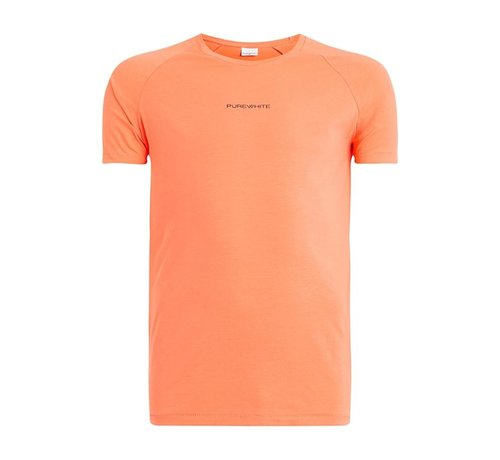 Pure White Shirt Coral With Logo
