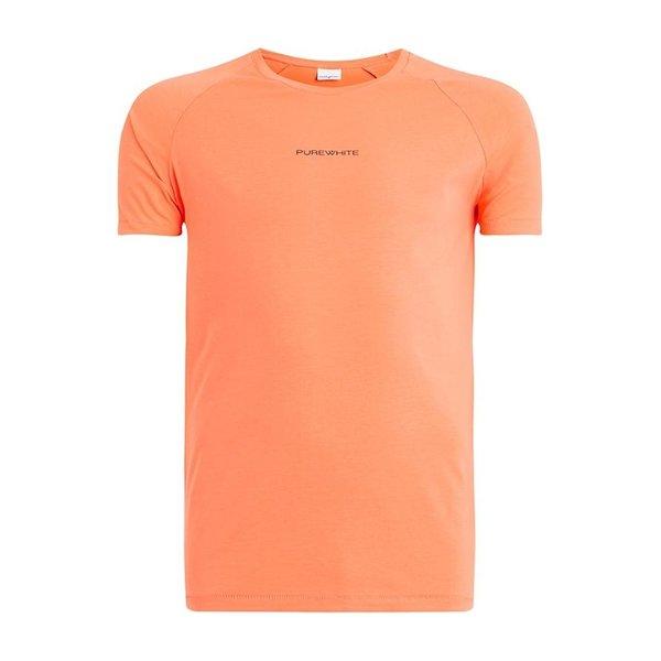 Pure White Shirt Coral Whit Logo