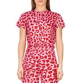 Reinders Mandy Top Short Sleeve Leopard Bloody Red