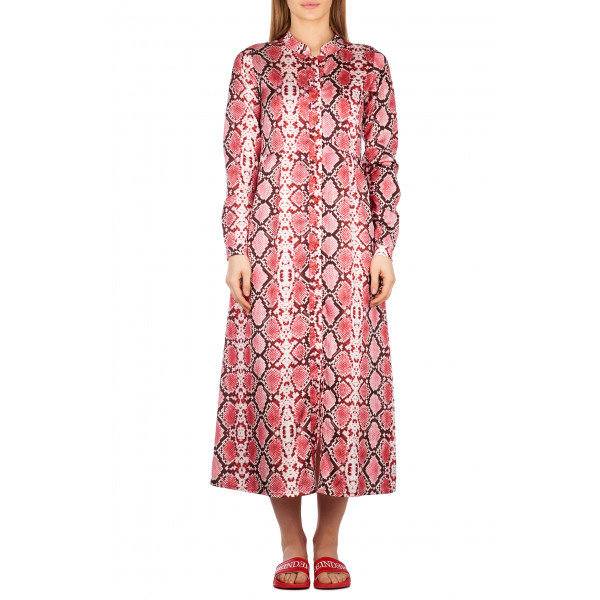Reinders Blouse Dress Snake Bloody Red