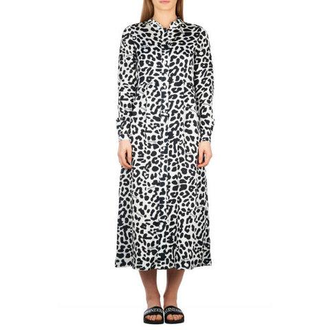 Blouse Dress Leopard Black