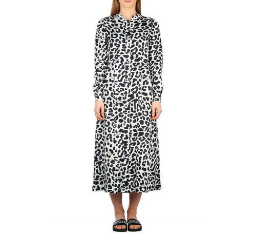 Reinders Blouse Dress Leopard Black