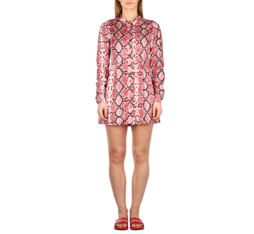 Blouse Dress Short Snake Bloody Red