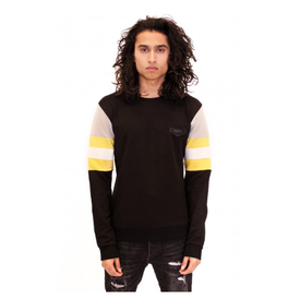 Radical Sweater Crewneck Sleeve Block Black