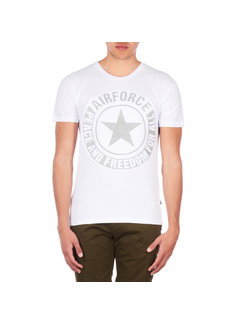 Airforce Tee Emboss Reflection Shirt White