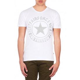 Airforce Tee Emboss Reflection Shirt White