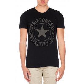Airforce Tee Emboss Reflection Shirt Black