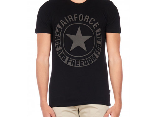 Airforce Tee Emboss Reflection Shirt Black