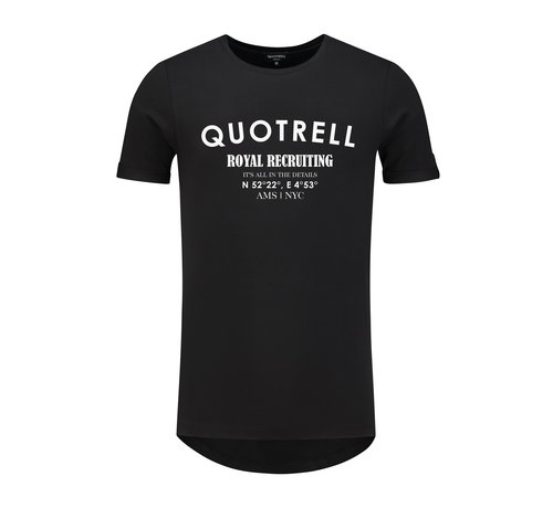 Quotrell Royal Recruiting Tee Black / White