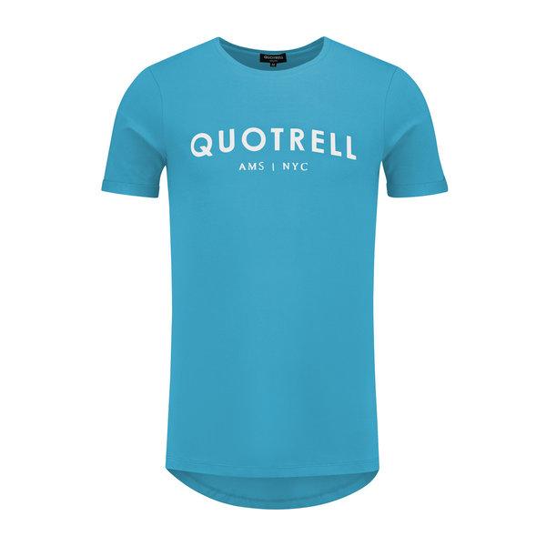 Quotrell Tee Azure / White