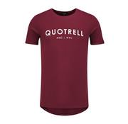 Quotrell Tee Bordeaux / White