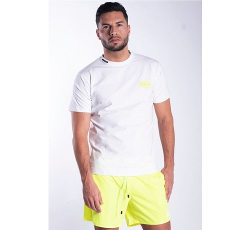 My Brand WHITE NEON YELLOW T-SHIRT