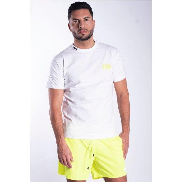 My Brand WHITE NEON YELLOW T-SHIRT