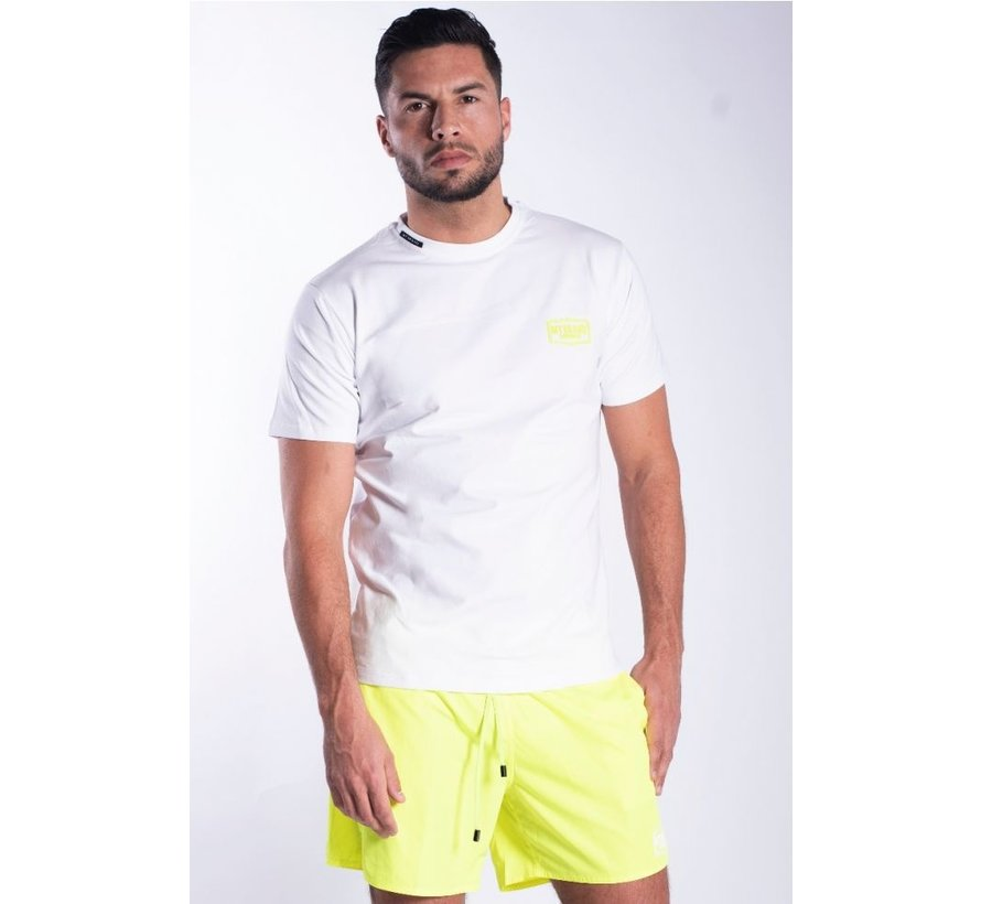 WHITE NEON YELLOW T-SHIRT