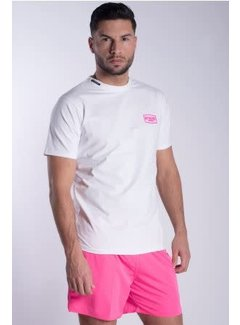 My Brand WHITE NEON PINK T-SHIRT