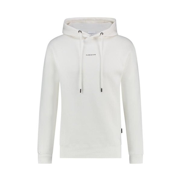 Pure White ESSENTIAL LOGO HOODIE OFF WHITE