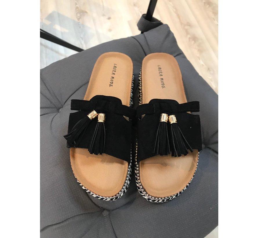 Slippers Laura Mode Black