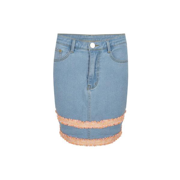 Delousion Skirt Luz Jeans