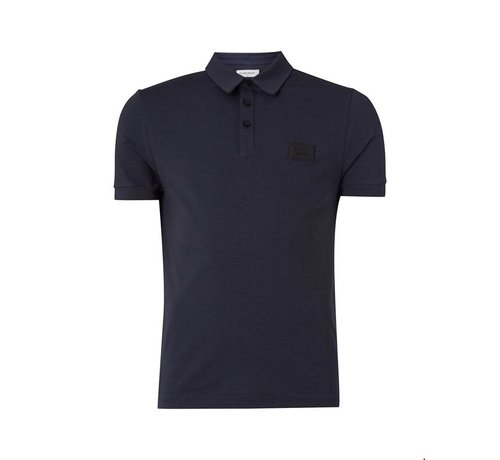 Pure White Essential Polo Navy