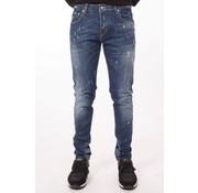 My Brand Dark Spotted Washed Jeans Blue