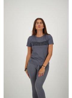 Reinders T-Shirt Slim Fit Metal Grey / True Black