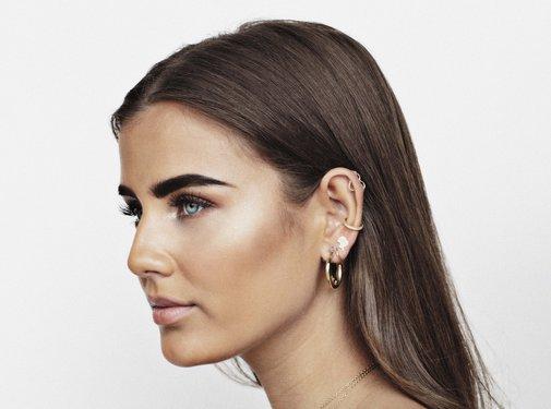 Reinders Headlogo Stud Earrings Gold