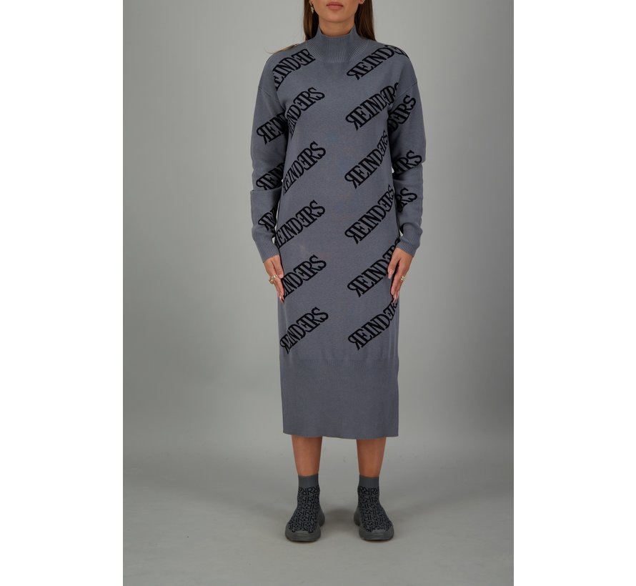 Dress all over Metal Grey