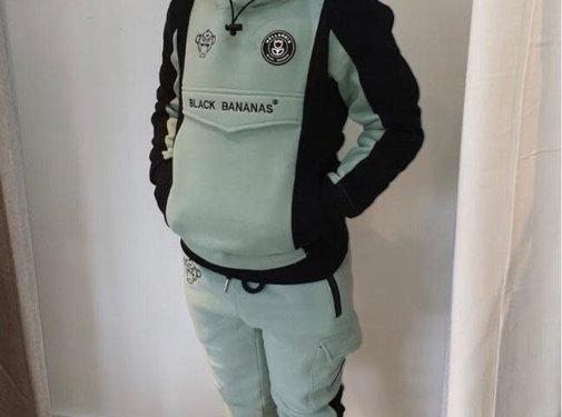 Black Bananas Anorak Block Hoody Green Kids