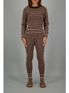 Reinders RR Print Sweater Woodsmoke