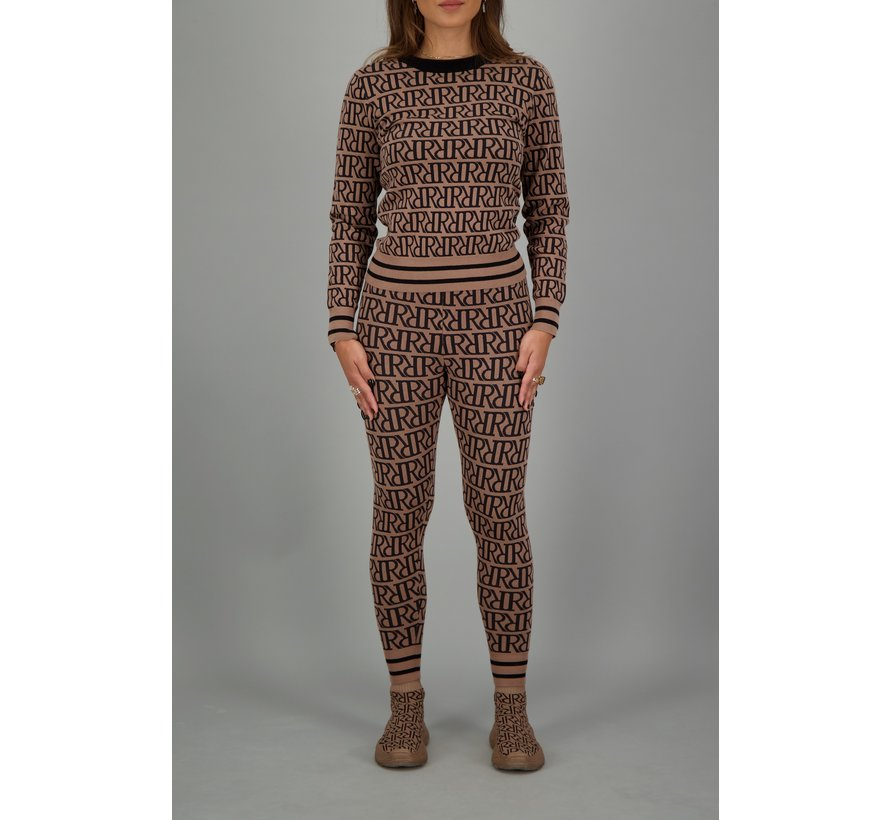 RR Print Sweater Woodsmoke