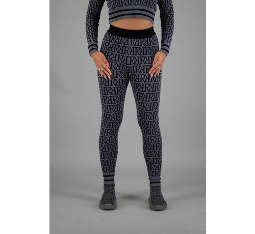 Reinders RR Print Pants Metal Grey