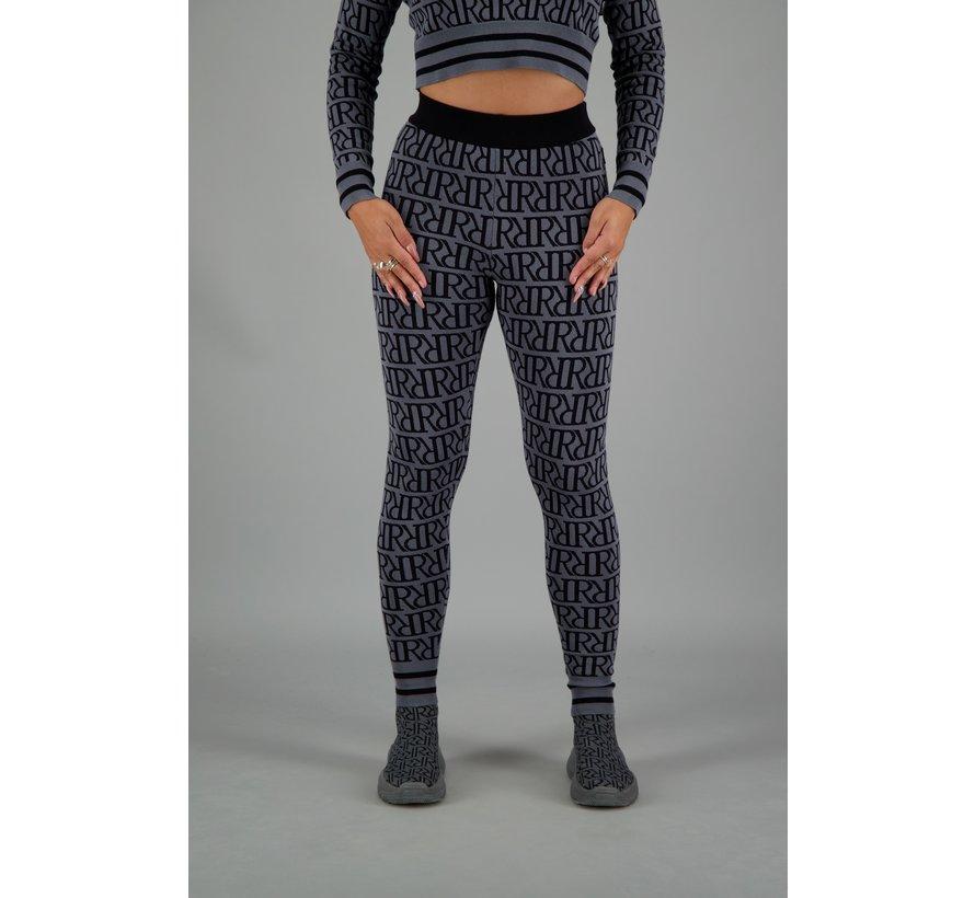 RR Print Pants Metal Grey