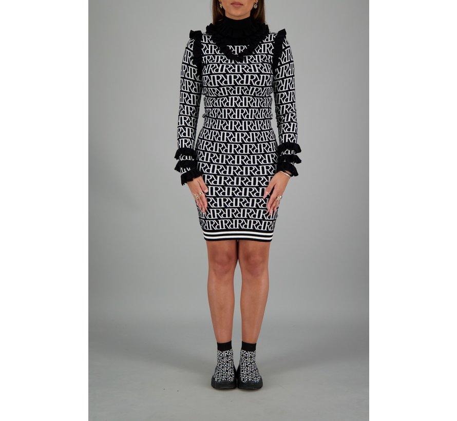 Marie Ruffle Dress RR Print