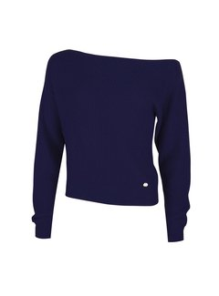 Jacky Luxury OFF-SHOULDER PULLOVER Navy