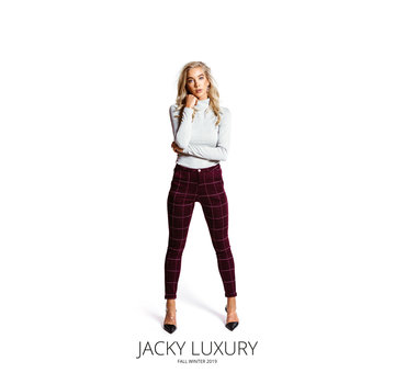 Jacky Luxury Trouser Print Purple