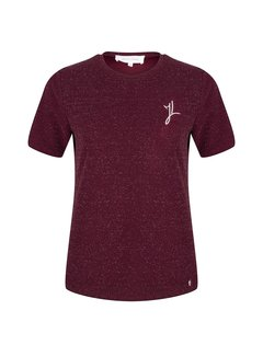 Jacky Luxury Top JL Logo Aubergine