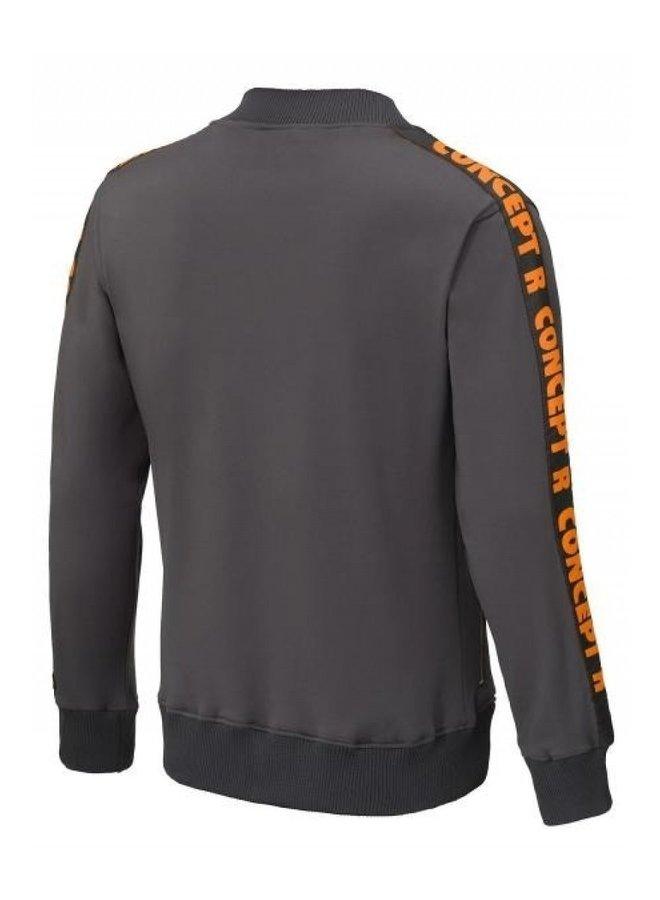 Track Jacket Taped Grey Orange