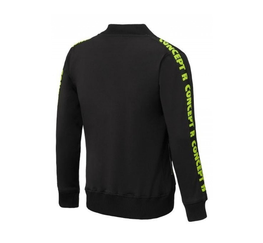 Track Jacket Taped Black Fluor
