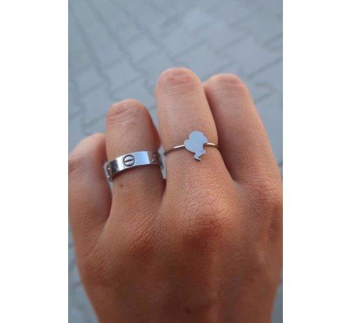 Reinders Headlogo Ring Silver