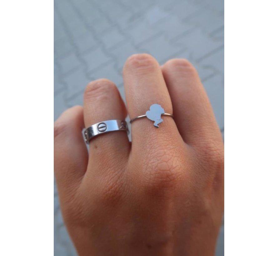 Headlogo Ring Silver