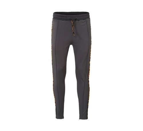 Concept R KIDS Track Pants Taped Grey Orange