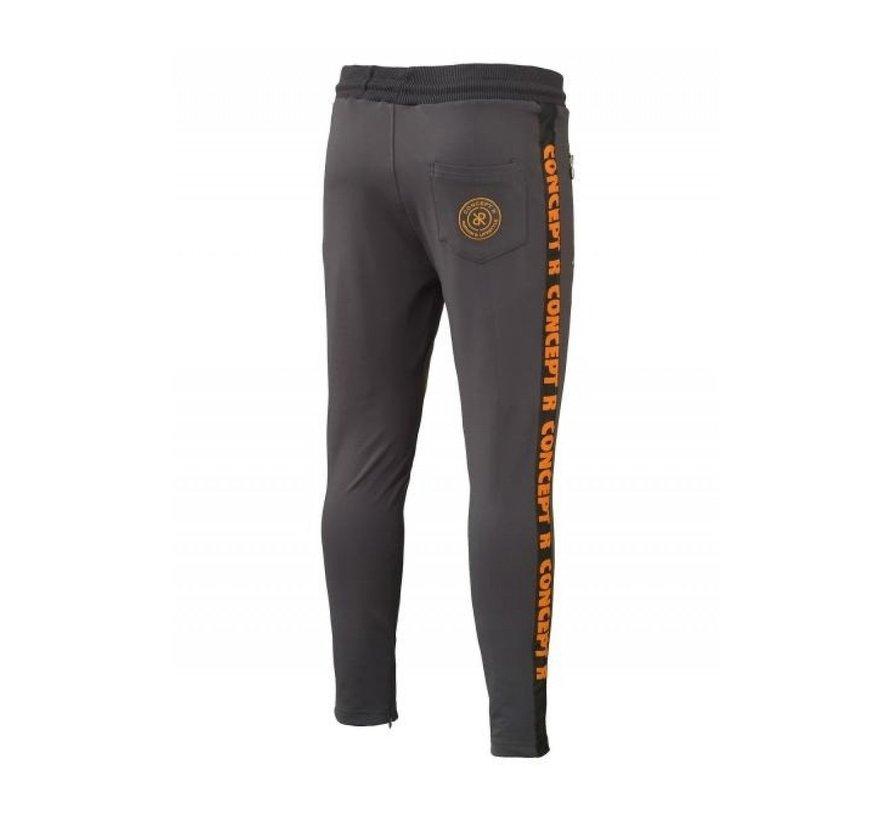 KIDS Track Pants Taped Grey Orange