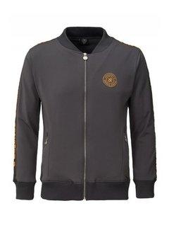 Concept R KIDS Track Jacket Taped Grey Orange