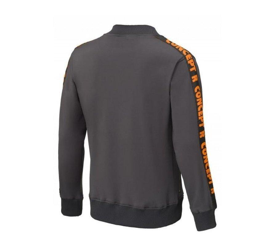 KIDS Track Jacket Taped Grey Orange