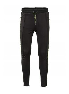 Concept R Track Pants Taped Black Fluor